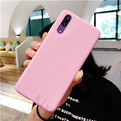 Solid Color Silicone Couples Cases For Huawei P20 Pro P10 plus P9 Honor 8 9 10 Cute Candy Color Soft Simple Fashion Phone Case