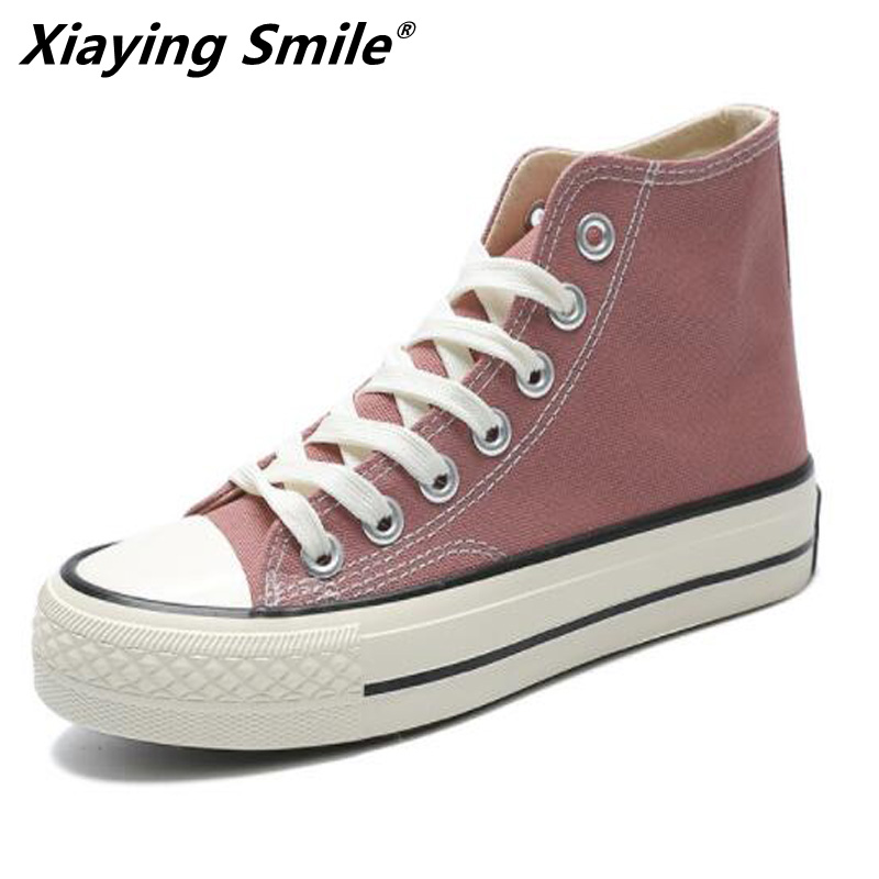 Xiaying Smile 2019 Women Walking Shoes Women Sport Shoes Comfortable Rubber Sole Platform Shoes For Spring Autumn Hot Selling