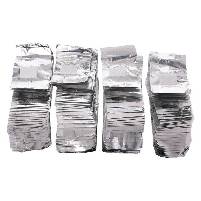 50-200 pces folha de alumínio prego imersão acrílico gel polimento saco de unhas removedor criativo popular prático unhas envoltórios