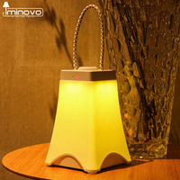 IMINOVO Portable Night Lights LED White Yellow USB Charge Stepless Dimming For Children Living Room Indoor