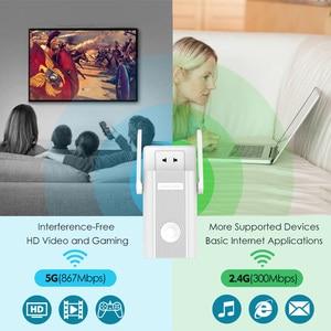 Image 5 - 1200 150mbps の 2.4 グラム 5 グラムデュアルバンド ap ワイヤレス無線 lan 長距離エクステンダー wifi ブースター 802.11ac 外部アンテナ作業オンライン & オンライン研究