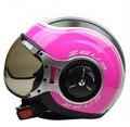 Free shipping Genuine Taiwan ZEUS lions ZS-218 motorcycle helmet half helmet half helmet retro styling MOMO / pink with flowers