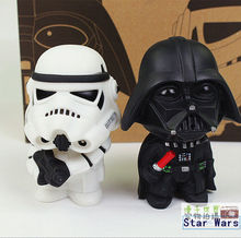 2015 New Star Wars Figures toy 2PCS/SETS Black Knight Darth Vader Stormtrooper PVC Action Figures  DIY Educational  TOYS