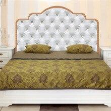 Стиль экологически чистый ПВХ спальня кровать голова фон для изголовья стикер креативность стикер на стену украшение дома
