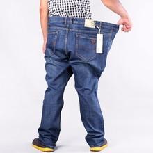 Размера плюс военные мужские хип-хоп брюки хлопковые топы джинсы мужские прямые свободные длинные брюки брендовые размер 50 52 для 160 кг
