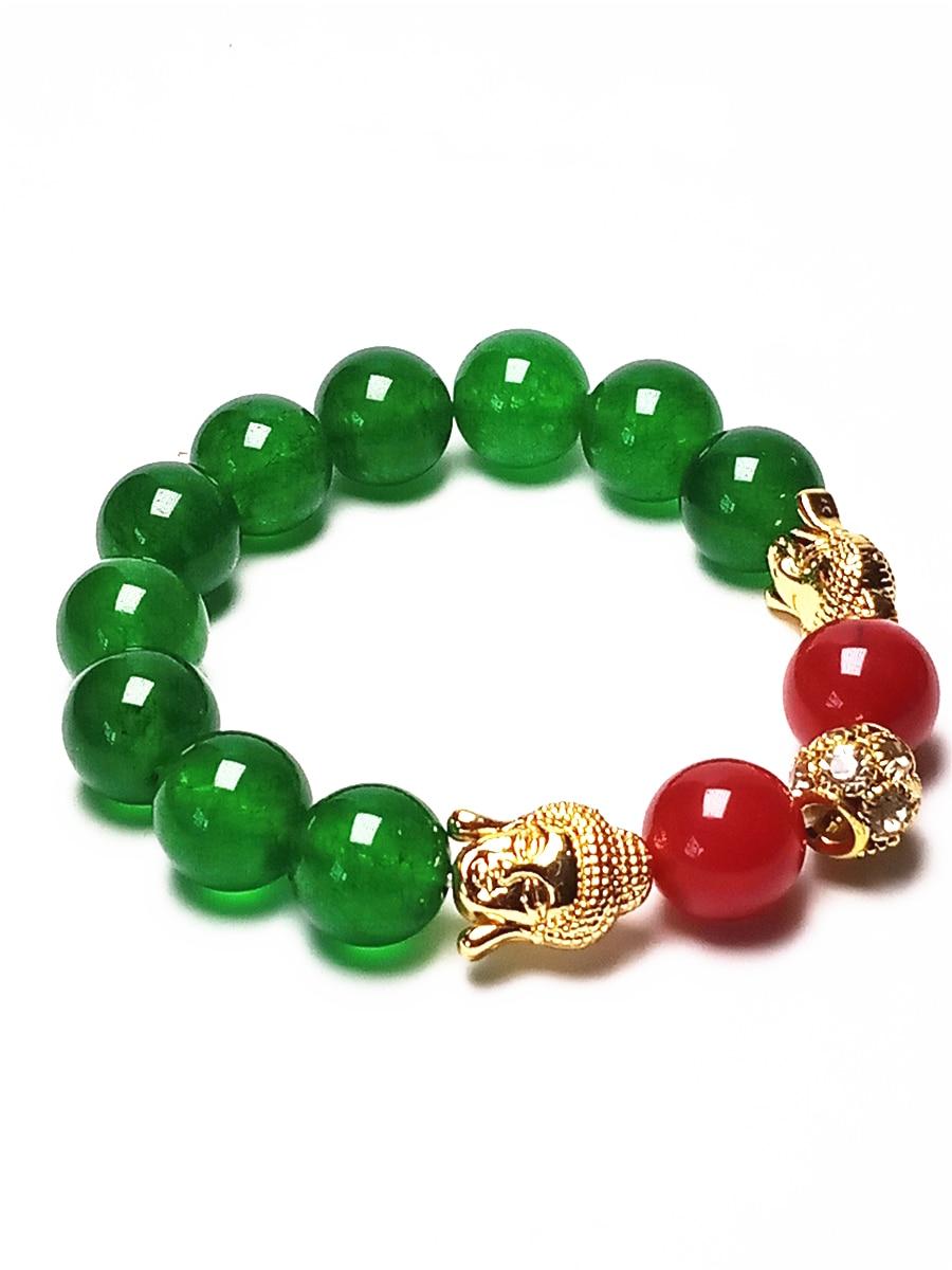 Koraba 12mm Natural Green Jade Gold Sakyamuni Buddha Round Gemstones Beads Stretch Bangle BraceletKoraba 12mm Natural Green Jade Gold Sakyamuni Buddha Round Gemstones Beads Stretch Bangle Bracelet