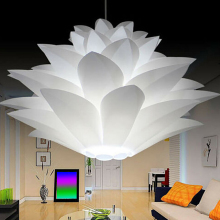 Лотос люстра с абажуром DIY цветок лотоса шестислойная лампа абажур романтическая комната кулон освещение покрытие бар отеля Декор