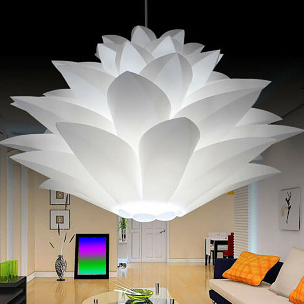 Lotus Chandelier Lampshade DIY Lotus Flower Six-layer Lamp Shade Romantic Room Pendent Lighting Cover Hotel Bar Decor(China)