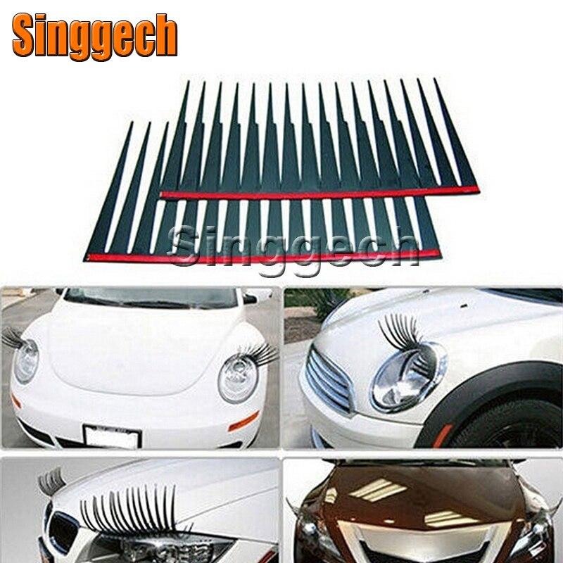 1 Paar 3d Auto Fake Eye Lash Stickers Koplamp Voor Peugeot 307 206 308 407 207 2008 3008 508 406 208 Mazda 3 6 2 Cx-5 Cx5 Cx-7 Door Wetenschappelijk Proces