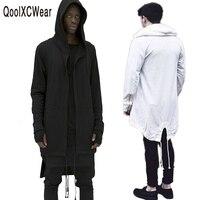 QoolXCWear New Fashion men's coat hoodies dovetail cardigan hiphop men hoody black cloak outerwear oversize streetwear