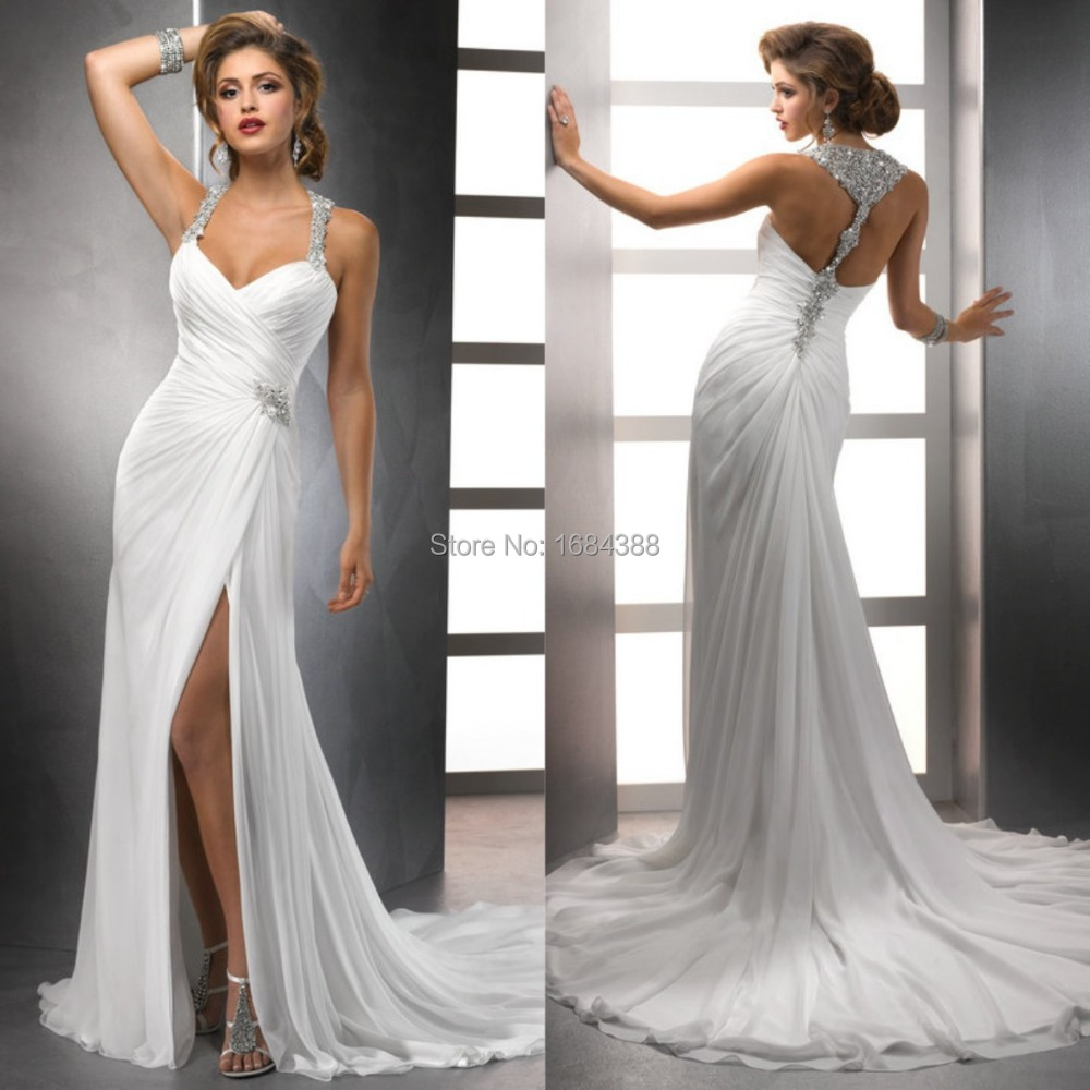 Buy Halter casual wedding dresses picture trends