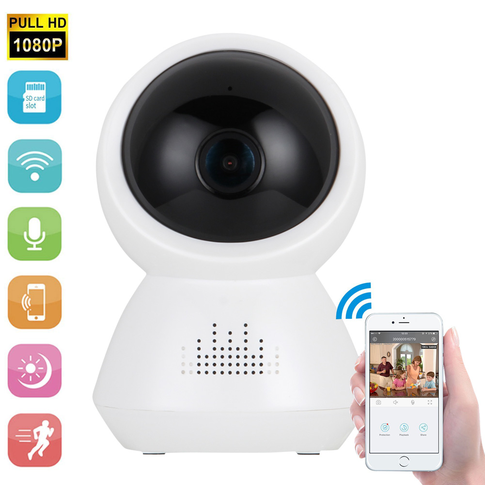 1080P Panoramic Wireless Camera HD 2.0M Indoor Home Office Wi-fi Security Camera LCC77 vr360 panoramic camera wi fi remote control sports action camera