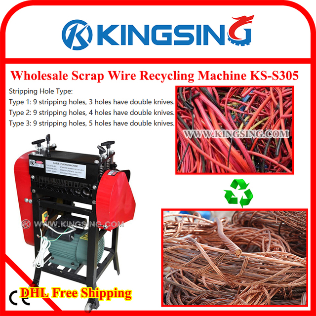 scrap copper wire stripping machine, electric wire cable making machine  ks-s305 + dhl free shipping
