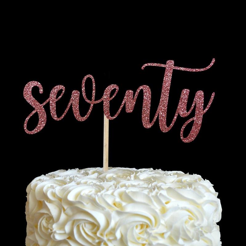 sedamdeset torta topper - mnoge boje glitter 70. rođendan dekor 70 - Za blagdane i zabave - Foto 5