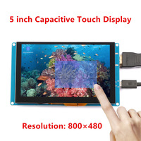 5 Inch 800x480 Display Capacitive Touch Screen Monitor For Raspberry Pi Windows Beagle Bone Black