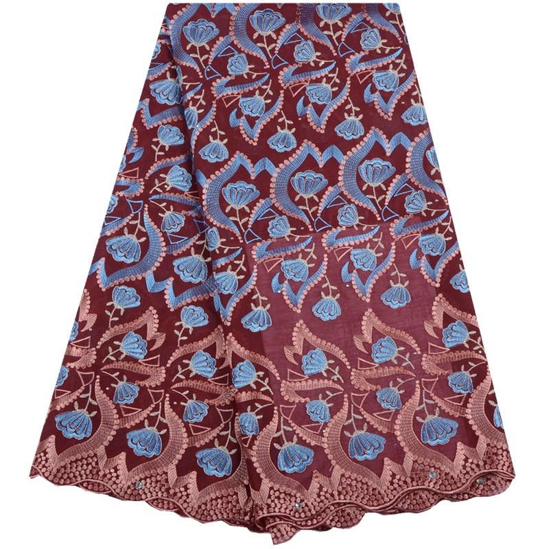 2019 nouveau Style africain dentelle tissu brodé nigérian coton dentelle tissu de haute qualité français Tulle dentelle tissu en WeddingA1547-in Dentelle from Maison & Animalerie    1