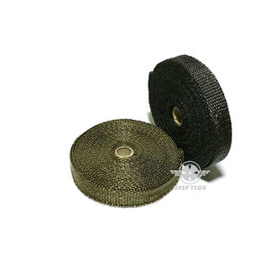 Image 5 - 15m/50ft X 1inch Titanium Thermal Exhaust Header Pipe Heat Wrap Exhaust Wrap Lava Fiber Tape With 6 Pcs Stainless Steel Ties Kit