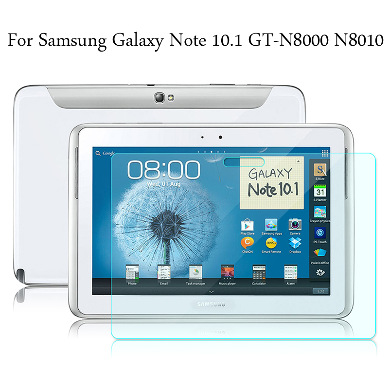 Tempered Glass Membrane For Samsung Galaxy Note 10.1 N8000 N8010 Steel Film Tablet Screen Protection Toughened