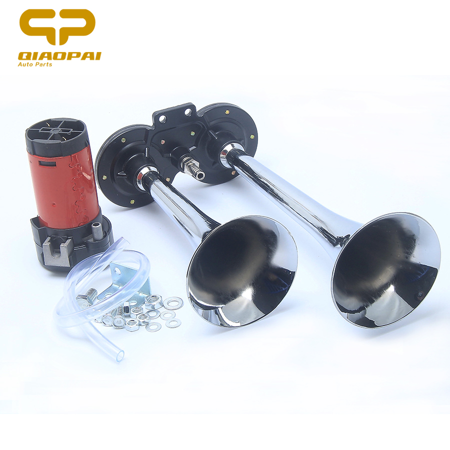 150dB Air Horn Chrome Super Loud with Compressor For Auto Truck Boat Train 12V