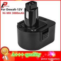Ni MH 3.0Ah Replacement Power Tool Battery For Dewalt 12V 3000mah DE9074 DC9071 DE9037 DE9071 DE9074 DE9075 DW9071 DW9072 DW9074