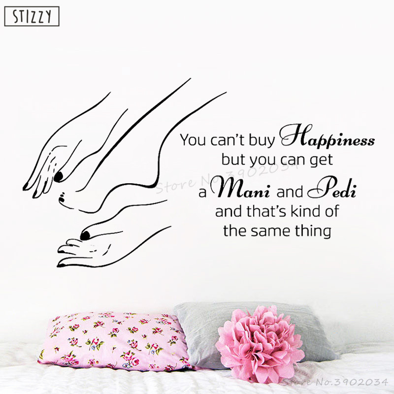 Nail Art Quote: STIZZY Wall Decal Quote Manicure Pedicure Beauty Salon