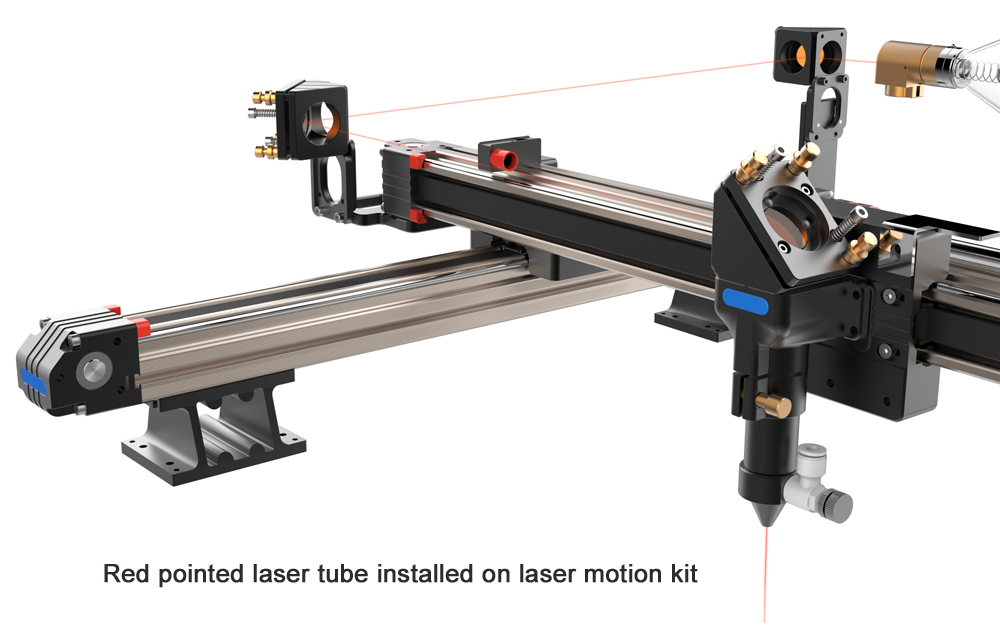 Red pointed laser tube