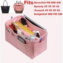 Speedy25 30 35 40 Neverfull MM Purse Organizer waterproof Oxford Cloth Handbag Bag In Tote w/Detachable Zip Pocket