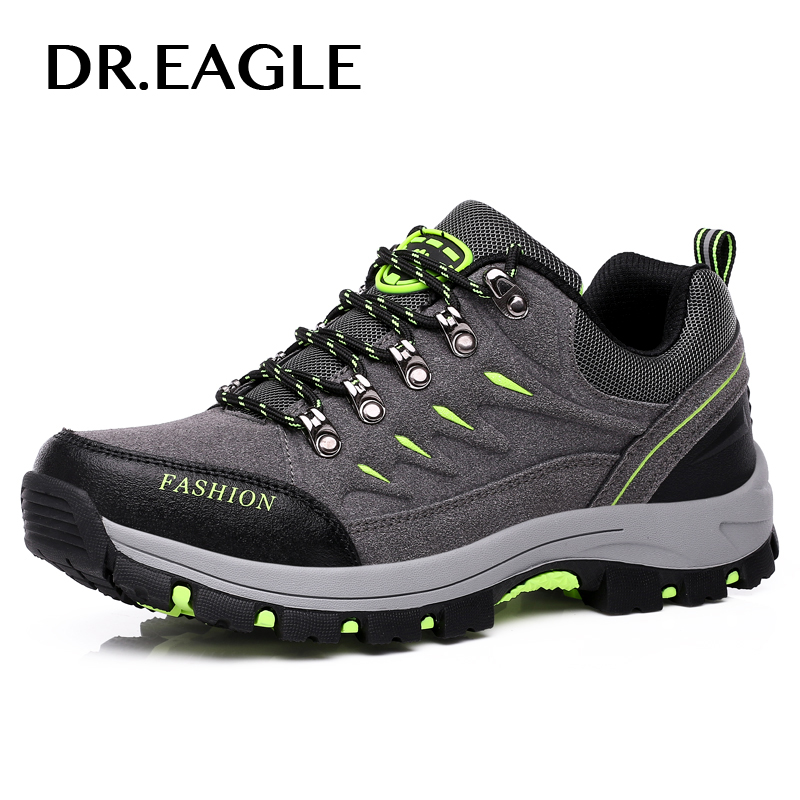 DR.EAGLE men sneakers warm outdoor hiking shoes men waterproof sport trekking boots breathable hiking mountain Climbing Shoes