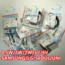 328ce8a3d 150 sztuk/partia 1 W zestaw LED SMD 3 V/6 V 2835/3030/2828/3535/ 5630/7020/7030/4020/4014/7032  zimny biały do podświetlenie TV k.