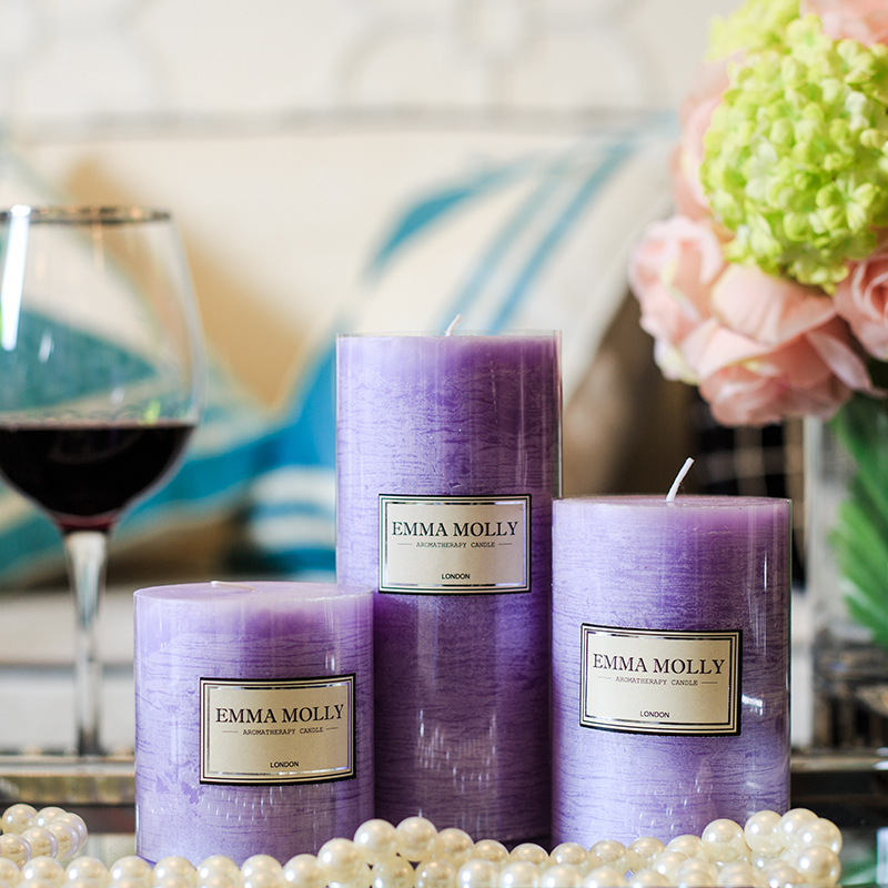 Wedding Gift Candles: 1Set Scented Candles Romantic Purple Lavender Aromatherapy