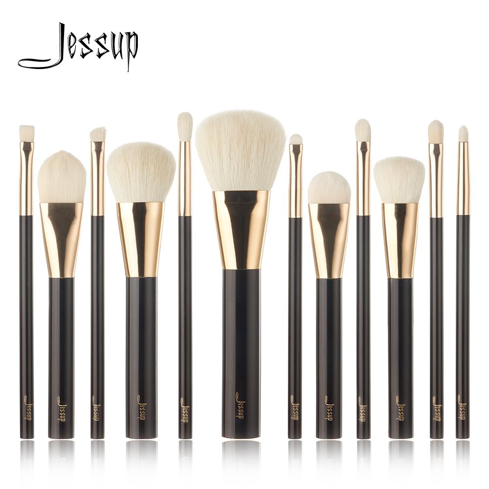 2017 NEW Jessup 12pcs Professional Makeup Brushes Set Beauty Kits Make up brush Cosmetics Tool foundation Eyeshadow Powder Lip 12pcs makeup brushes set powder foundation eyeshadow tool makeup brush set dropship 11 1