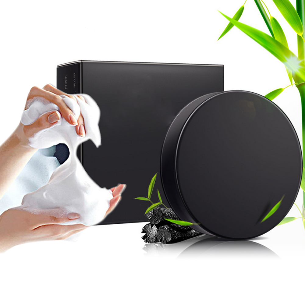 Handmade Soap Bamboo Charcoal Skin Care Blackhead Remover Acne Treatment Oil Control Face Cleaning Whitening Soap @ME88