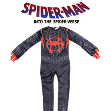Spiderman Miles Parallel Universe New Age Little Black Spider Anime Tights Child Cosplay Costume Halloween Purim