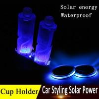 Universal Car Anti Slip Mat Waterproof Solar LED Car Cup Holder Mat Pad Bottle Drinks Coaster