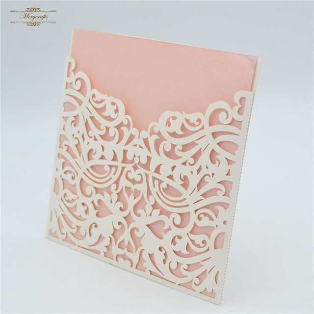 Quality chinese products indian luxury pocket laser cut envelope