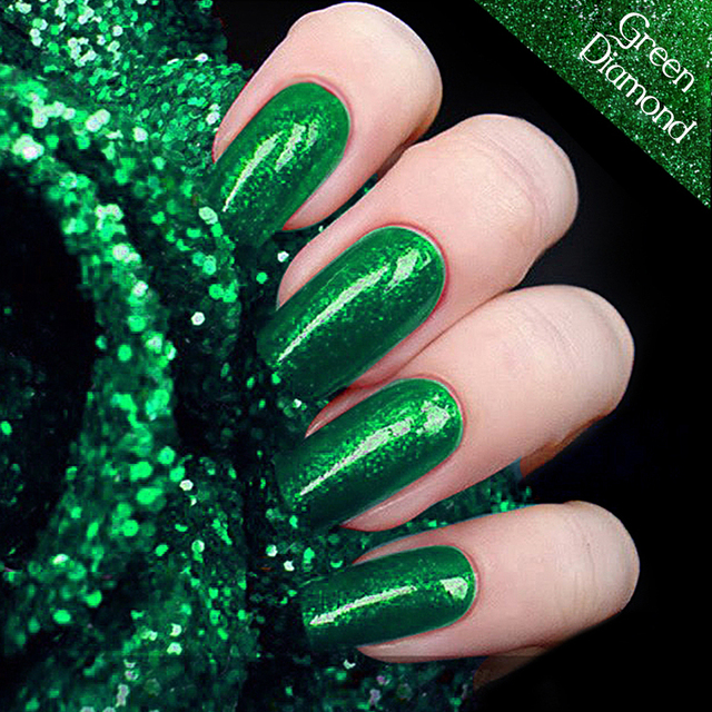 c07285e23b43 UV Green Emerald Hybrid Gel Nail Polish High Quality Long-lasting Soak Off  LED Manicure Beauty DIY Nail Art Tools 12colors 12ml