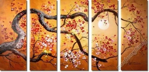 Oil painting on canvas modern wall deco painting 100% handmade ...