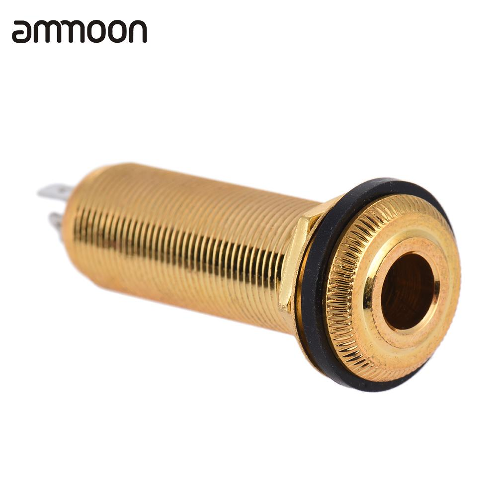 6.35mm 1/4 Inch Guitar End Pin Jack Endpin Jack Socket Plug Mono Output Copper Material For Acoustic Electric Guitar