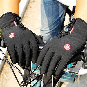 Winter Mens Women Cycling Gloves Anti-slip Motorcycle Windproof Bike Gloves Anti-shock Full Finger Mountain Bicycle Gloves(China)