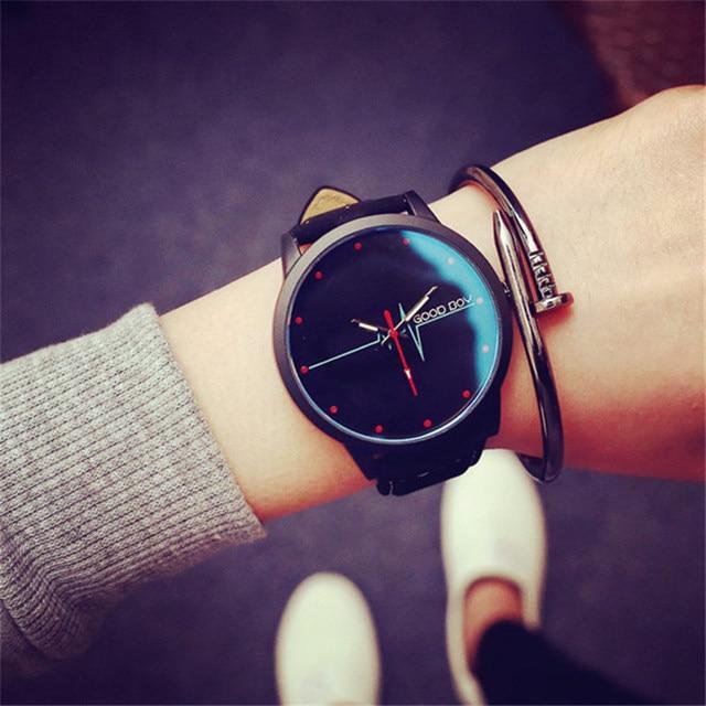New Brand Leather Watch Men Sports Watches Good Boy Quartz Military Casual Wrist