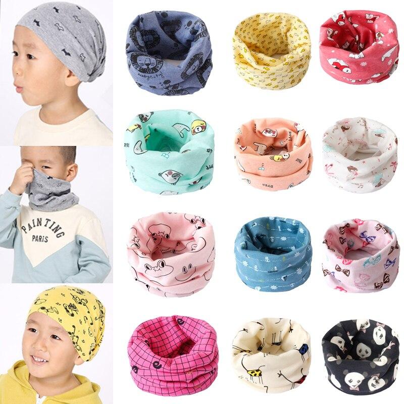 Children Kids Warm Cotton Scarf Baby Boy Girl Winter Neck Wrap Scarf Bib N7