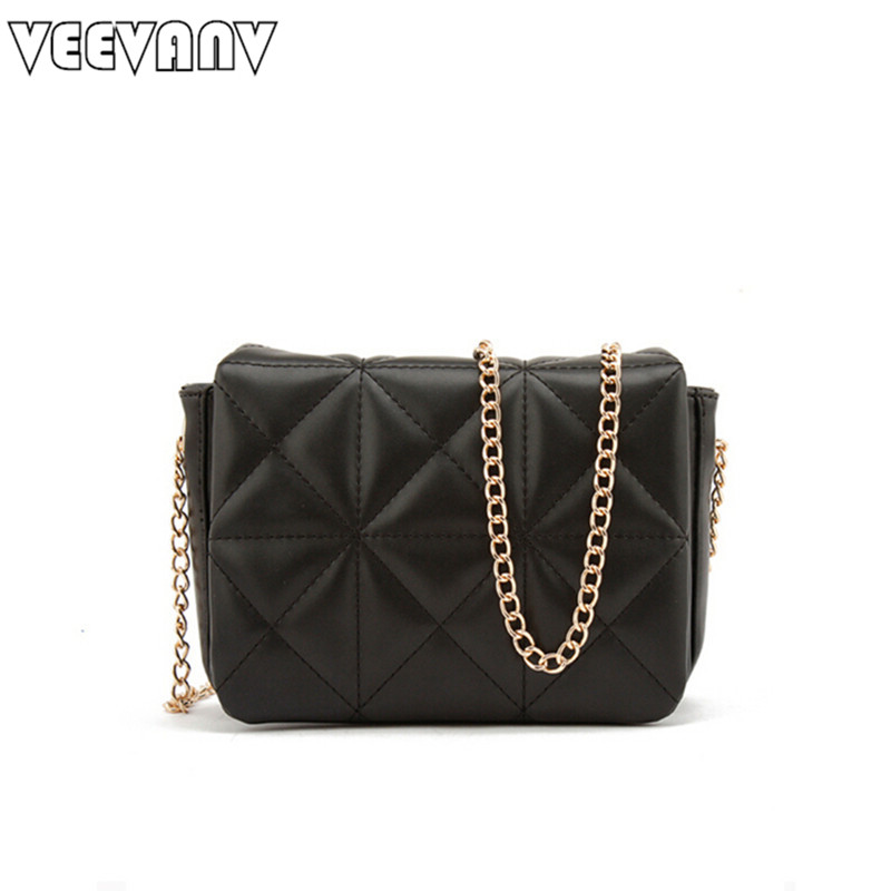 2018 VEEVANV New High Quality Chain Bags Fashion Wome Handbags Messenger Bags Small Crossbody Purse Ladies Leather Shoulder Bags ...