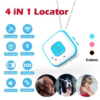 V28 Mini WiFi GPS localizador en tiempo Real vehículo Personal Tracker GSM/GPRS dispositivo geo-cerca alarma SOS Audio bidireccional hablar