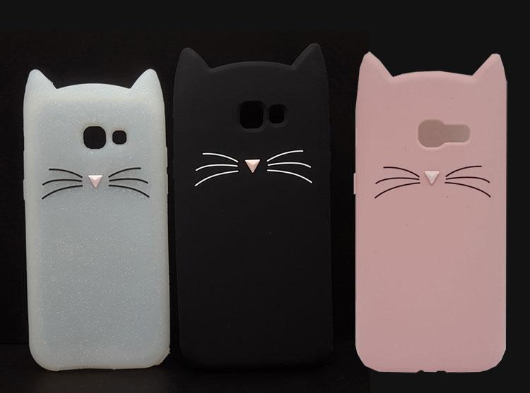 Мягкий силиконовый чехол для телефона Samsung GALAXY A3, A5, A7, J1, J2 Pro, J3, J5, J7 Prime 2016/2017/2018, 3D, улыбка, Черные кошачьи уши, чехол с бородой|case for samsung galaxy|case for samsungphone cases | АлиЭкспресс