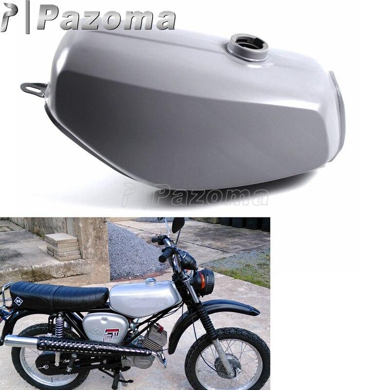 Pazoma moto acier gris vert Orange réservoir de gaz moto réservoir de carburant pour Simson S50 S51 S70 S 50 51 70