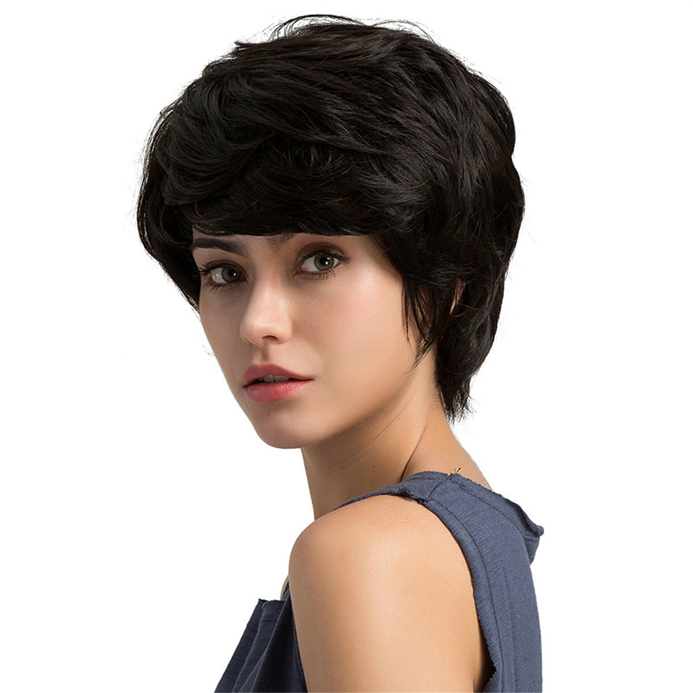 Full Wig 1 PC 100% Real Remy Human Hair Topper Toupee Clip Hairpiece Lace Top Wig Hair Accessories0928 graceful short side bang fluffy natural wavy capless human hair wig for women