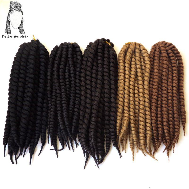 """4 πακέτα ανά παρτίδα 12 """"75g 12 κορδόνια ανά συσκευασία συνθετικό πλέξιμο μαλλιών πλέξιμο mambo twist επεκτάσεις πλεξούδες havana"""