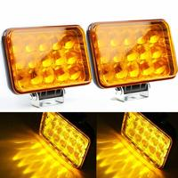 40W 15 LED Work Light Lamp 4D 3000K High Beam Driving Light For Tractor Offroad JEEP SUV ATV