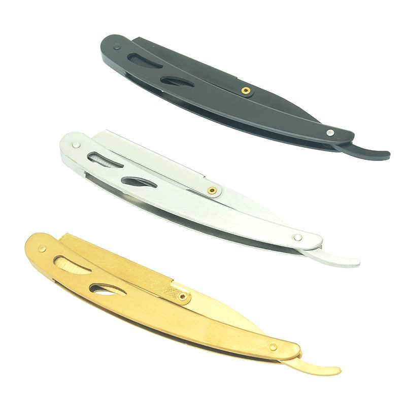 1 قطعة شفرات حلاقة الذكور للطي المحمولة مستقيم سوبر شارب اللحية المقص الرجال ماكينة حلاقة أداة الحلاقة الحلاقة ل حلاقة HC0016