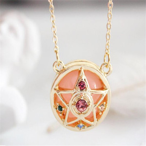 Anime Sailor Moon Loving Wand Crystal cosplay Pendant Necklace Girl accessories Cute props A781